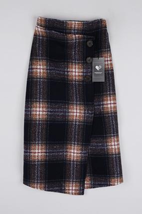 <b>[SAMPLE SALE】ブロックチェックロングスカート</b>