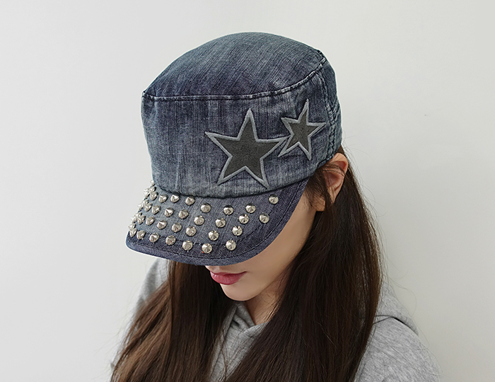 <b>ヴィンテージ星ジーン軍帽_cap</b>