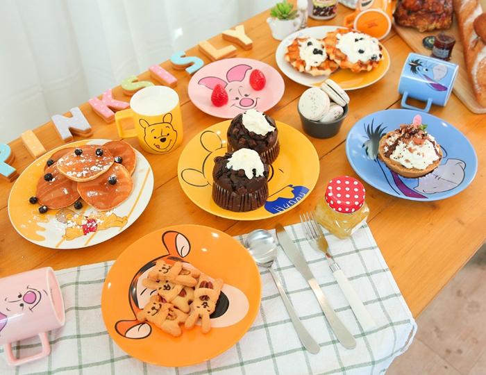 <b>[ピンクシスレーXディズニー]くまのプーさんと仲間たち皿4種セット</b>